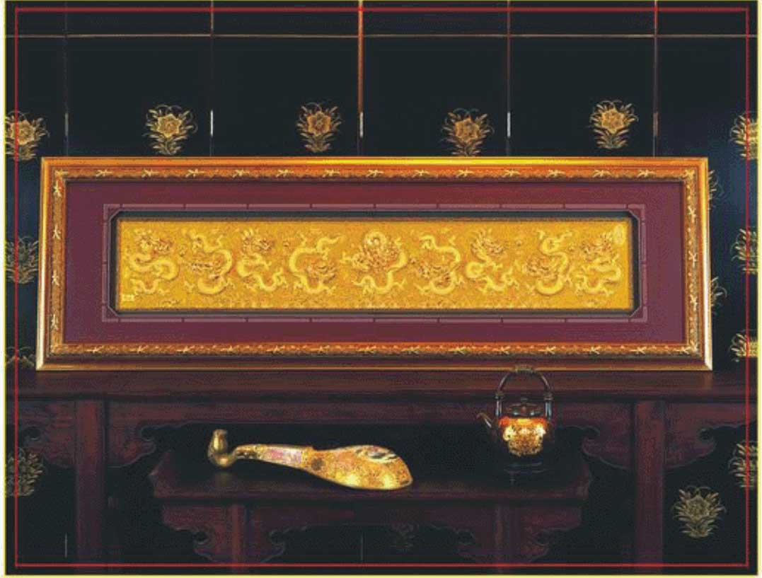漆线雕—九龙壁-产品列表-厦门优必德漆线雕艺术有限