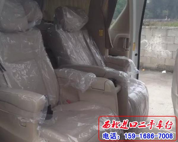 全新15款丰田阿尔法3.5中东版 白色黄笼